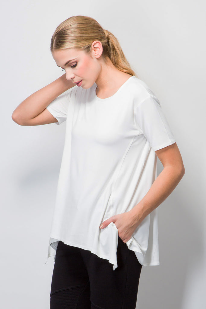 Loose Fit Short Sleeve T-shirt-Tops-BeBlush