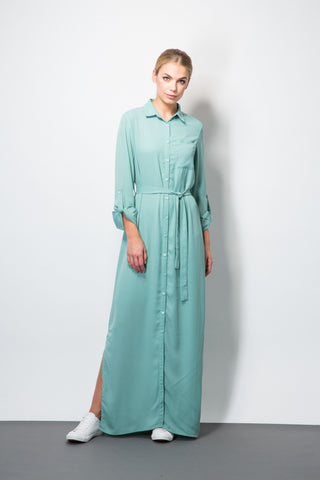 Maxi Shirt Dress-Dresses-BeBlush