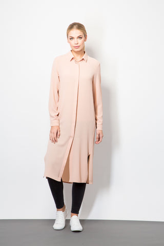 Midi Shirt Dress-Dresses-BeBlush