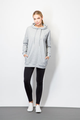 Oversized Hooded Sweatshirt-Top-BeBlush