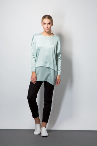 Sheer Hem Top-Tops-BeBlush
