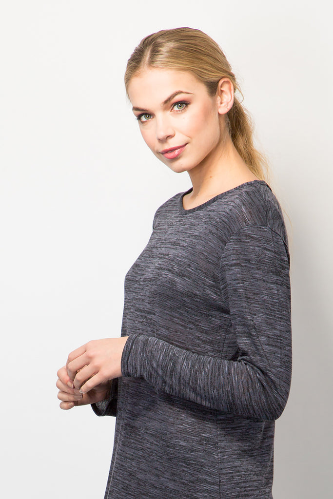 Space Dyed Top With Curved Hem-Tops-BeBlush