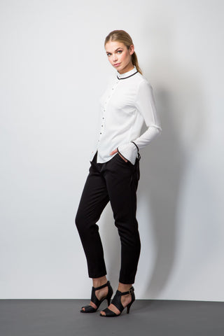 Twill Peg Trousers-Trousers-BeBlush