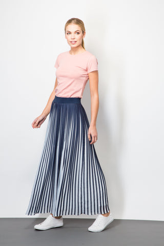 Two Tone Pleated Skirt-Skirts-BeBlush