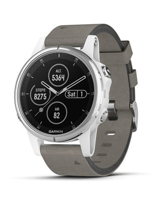 Fenix 5S Plus Sapphire, White with Grey Suede Band
