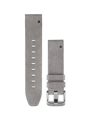 Garmin Fenix 5S QuickFit™ 20mm Gray Suede Leather Watch Band