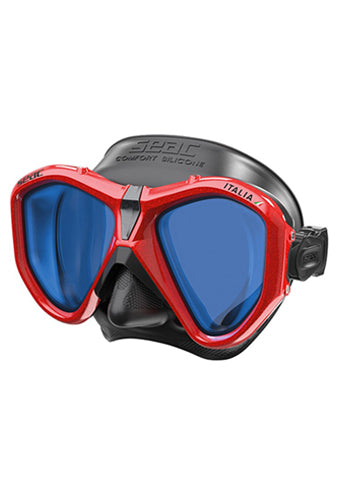 SEAC MASK ITALIA S/BL LS METAL RED