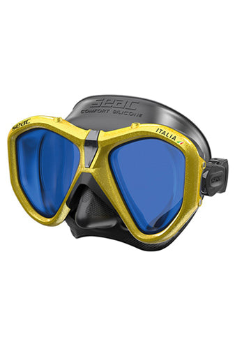 SEAC MASK ITALIA S/BL LS METAL YELLOW