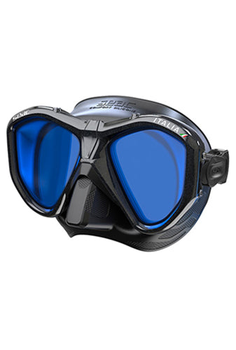 SEAC MASK ITALIA A.S/BL MIRROR LENSES BLACK METAL