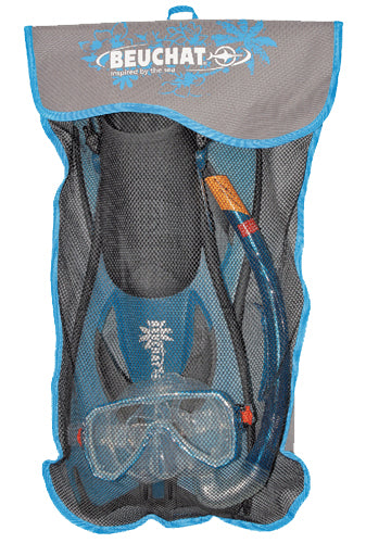 BEUCHAT OCEO BLUE SNORKELLING SET