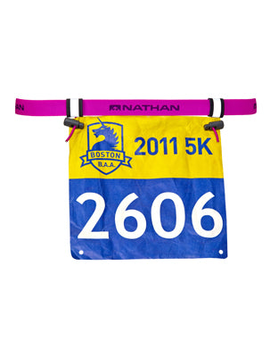 NATHAN RACE NUMBER BELT 2.0 FLORO FUSCHIA