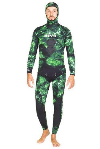 SEAC GIACCA MURENA GREEN JACKET AND PANT 3.5MM MAN WETSUIT