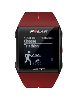 Polar V800 Advanced Multisports GPS Watch Red