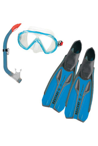 Beuchat X-Voyager Blue Snorkelling Set