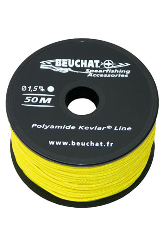 BEUCHAT NYLON KEVLAR 1.5MM YELLOW LINE ROLL 50M