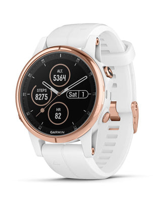Garmin Fenix 5S Plus Sapphire, Rose Gold Tone with music