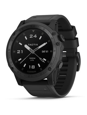 Tactix Charlie Titanium Bezel with Black Silicone Band