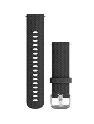 Vivoactive 3 and Vivomove HR Silicone Band Black