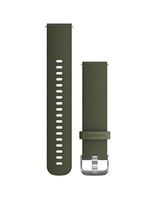 Vivoactive 3 and Vivomove HR Silicone Band Moss Green