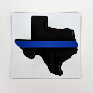 Blue Line Flag Texas Decal