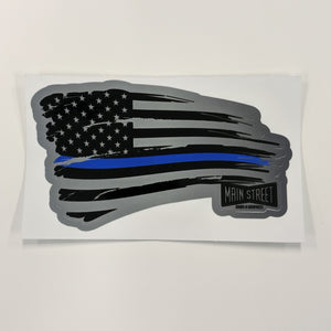 Blue Line Flag Decal