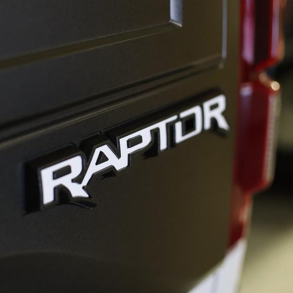 White Raptor Decal Back Panel ( Ford Raptor 2018 )