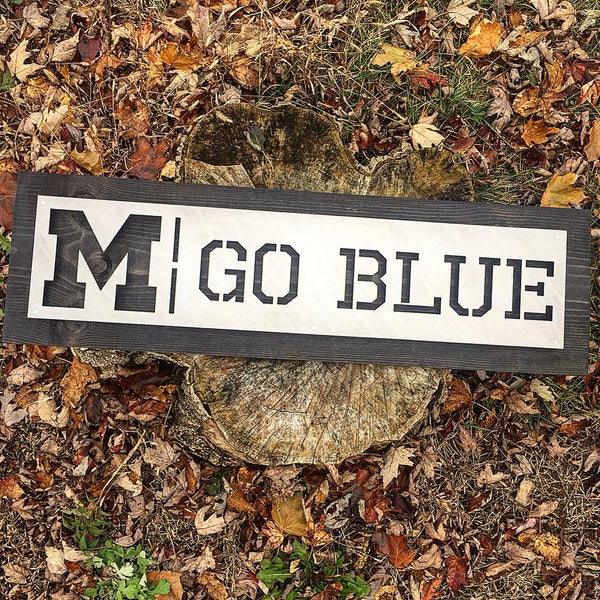 Go Blue Wall Art