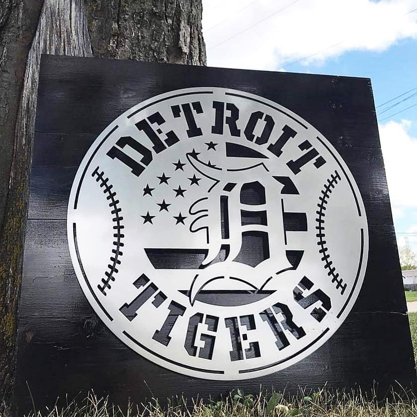 Detroit Tigers on Wood