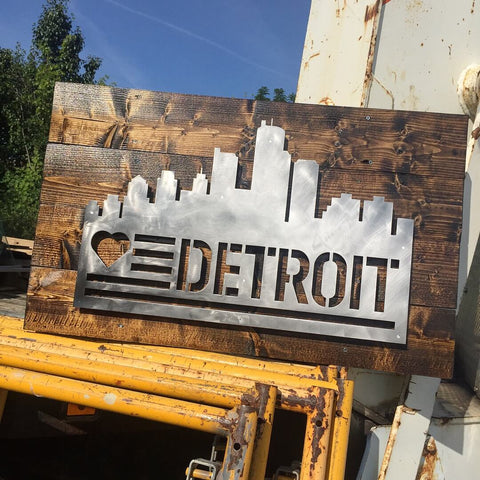 Love Detroit Skyline