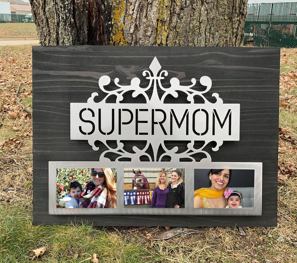 Supermom Piece Mounted on Wood