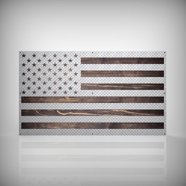 US Flag - Diamond Plate Edition