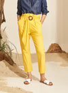 Pantalon Bag Skinny Amarillo