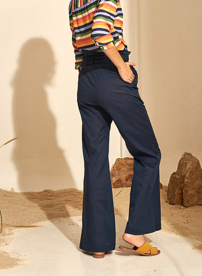 Pantalon Paper Bag Azul