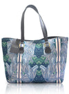Bolso Shopping Bag Azul Verde