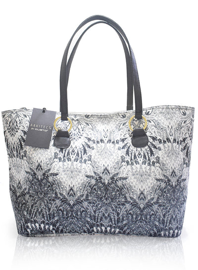 Bolso Shopping Bag Negro Blanco