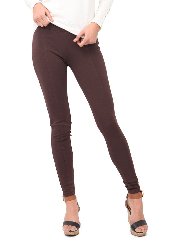 Leggings Con Costura Cafe