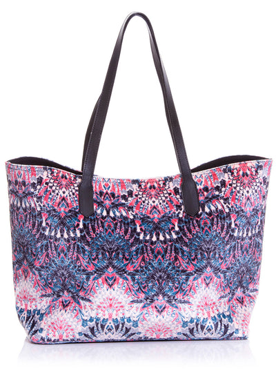 Bolso Shopping Bag Negro Rosa
