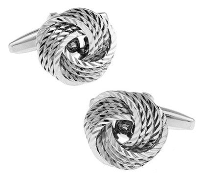 Metal Knot Silver Cufflinks - life after yes