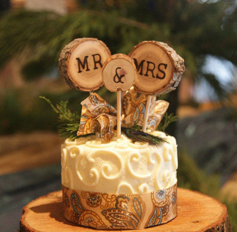 "Country Chic ""Mr. & Mrs."" Cake Topper - life after yes"