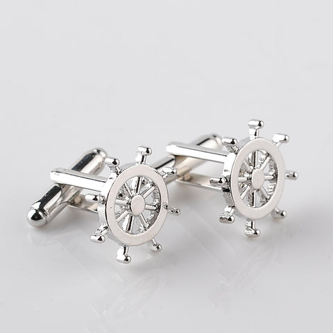 Silver Wheel Cufflinks - life after yes
