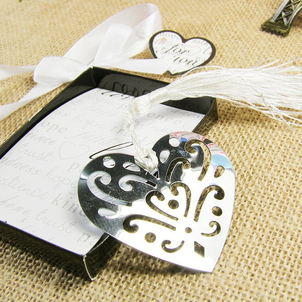 Heart Bookmark Wedding Favor