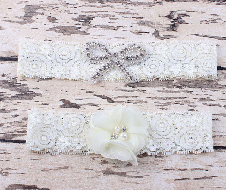 Vintage Bridal Garter with a Toss Garter - life after yes