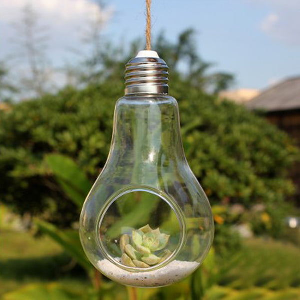 Hanging Glass Light Bulb Decoration - life after yes