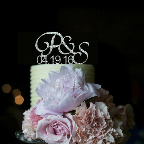 Customized Initials & Date Wedding Cake Topper - life after yes