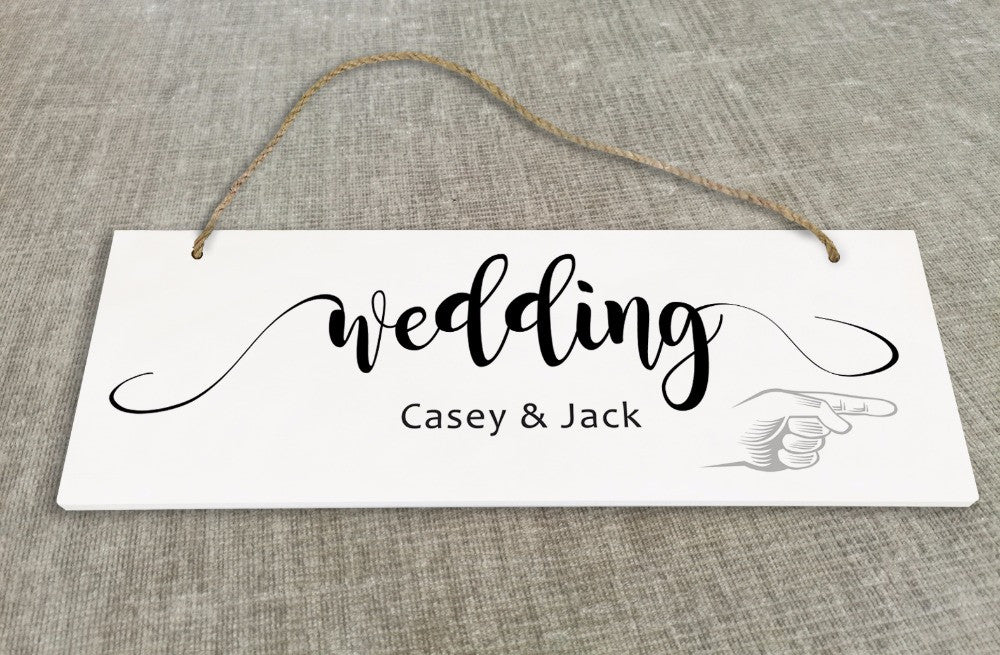 Personalized Wedding Reception & Ceremony  Directional Sign