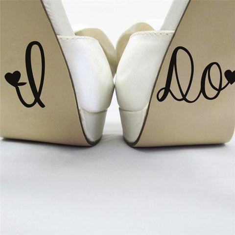 """I DO"" Shoe Sticker"