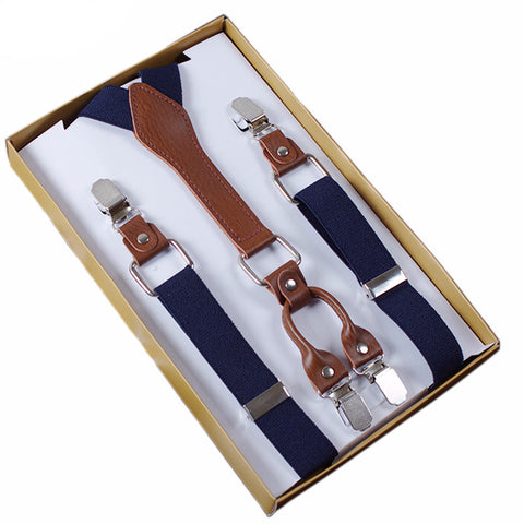 4 Clasp Elastic Suspenders (9 colors available)