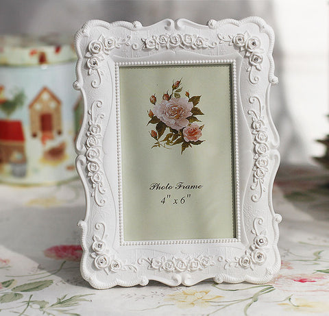 White Floral Vintage Frame - life after yes