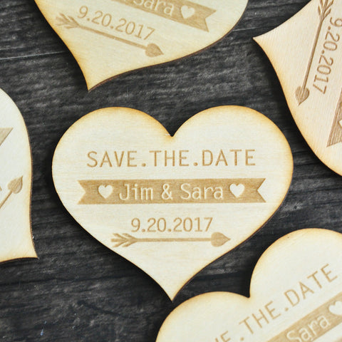 Heart-shaped Save the Date Magnet