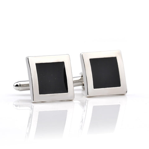 Black and Silver Square Cufflinks - life after yes